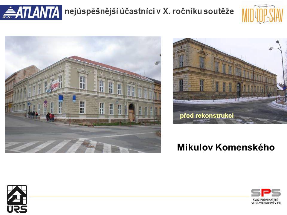 nejúspěšnější účastníci v X. ročníku soutěže Mikulov Komenského před rekonstrukcí