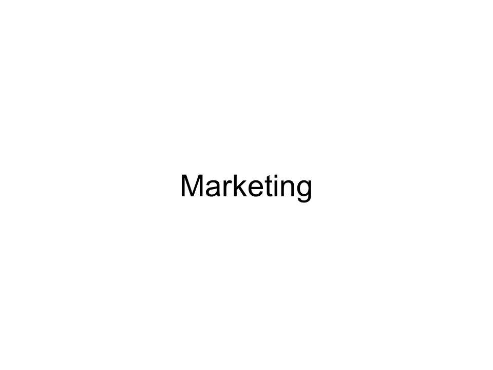 Marketing - podniková činnost zjistit (vyvolat) neuspokojené potřeby, přání, koupěschopnou poptávku, uspokojit prostřednictvím výrobků, služeb na trhu odbyt versus marketing Pojetí M.: 1) M - instrumentarium (M-mix, prodej) 2) nauka o podniku (zásobování, prodej, personalistika, …) 3) samostatná věd.