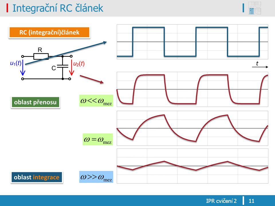 Integrační RC článek IPR cvičení 211