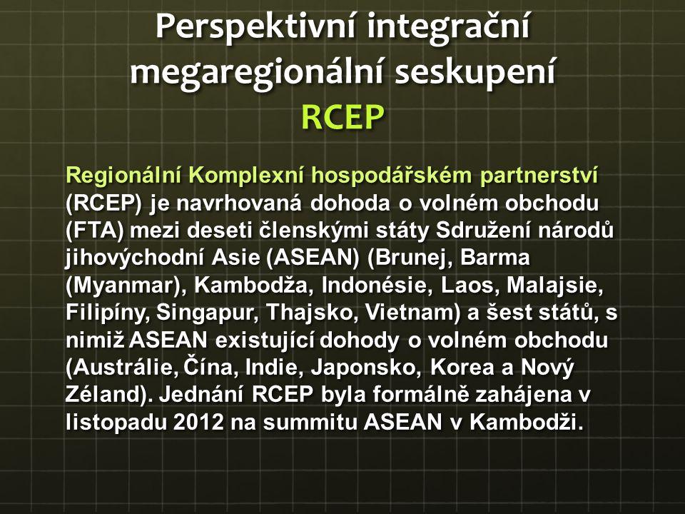 Regionální Komplexní hospodářském partnerství (RCEP) je navrhovaná dohoda o volném obchodu (FTA) mezi deseti členskými státy Sdružení národů jihovýcho