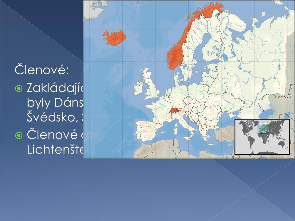 Členové:  Zakládajícími členy byly Dánsko, Norsko, Portugalsko, Rakousko, Švédsko, Švýcarsko a Velká Británie  Členové dnes jsou Norsko, Island, Lichtenštejnsko a Švýcarsko
