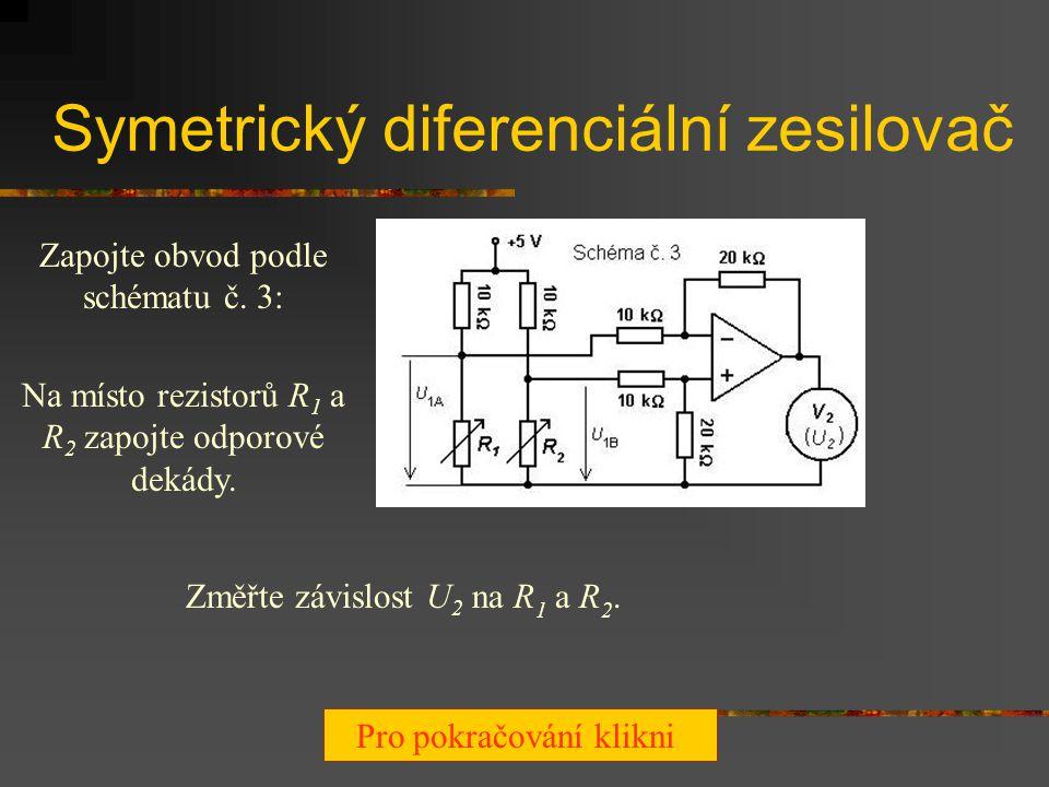 Derivační a integrační zesilovač s obdélníkovým napětím na vstupu V derivačním zesilovači přiveďte na vstup (pomocí generátoru funkcí) obdélníkový prů
