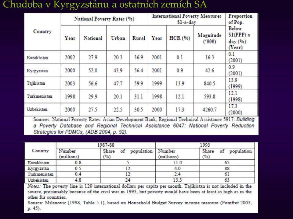 Chudoba v Kyrgyzstánu a ostatních zemích SA