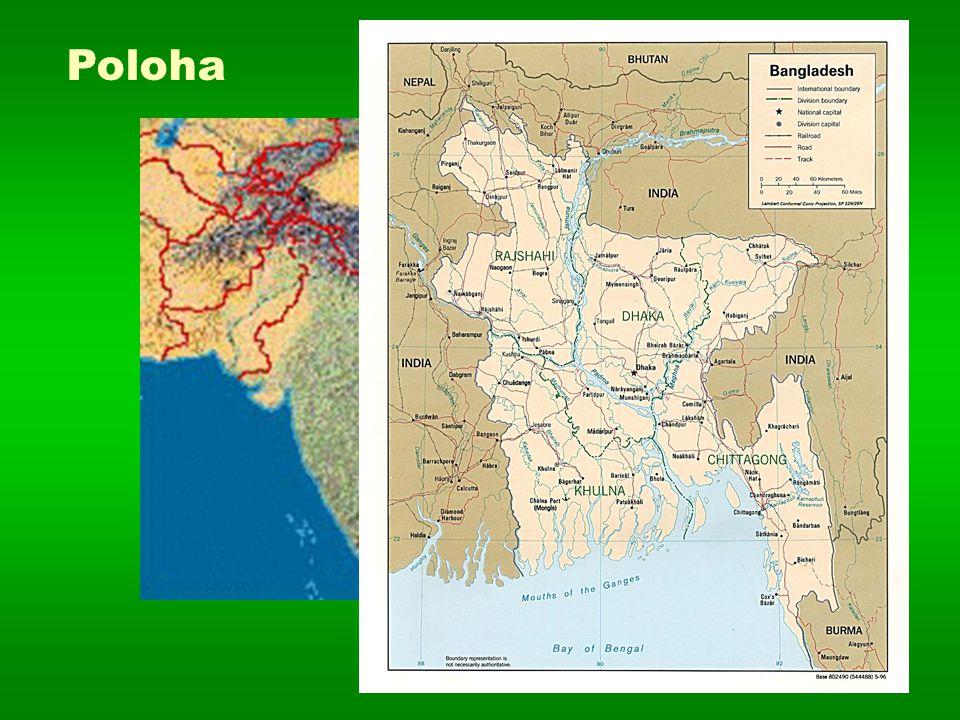 základní údaje  Český název : Bangladéšská lidová republika  Originální název : People's republic of Bangladesh  Hlavní město : Dháka (6 105 000)  Počet obyvatel : 148 265 000  Rozloha : 144 000 km 2  Hustota zalidnění : 1031 obyv.