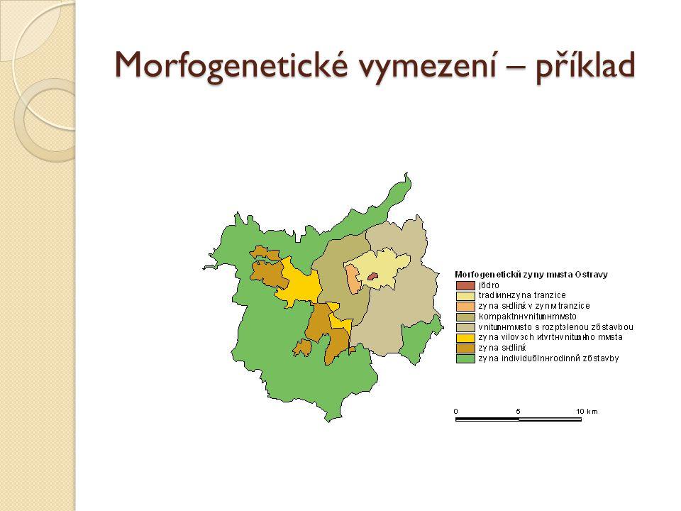 Morfogenetické vymezení – příklad
