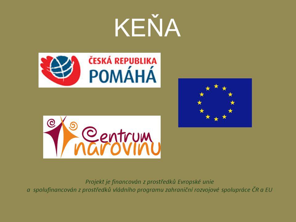Projekt je financován z prostředků Evropské unie a spolufinancován z prostředků vládního programu zahraniční rozvojové spolupráce ČR a EU KEŇA
