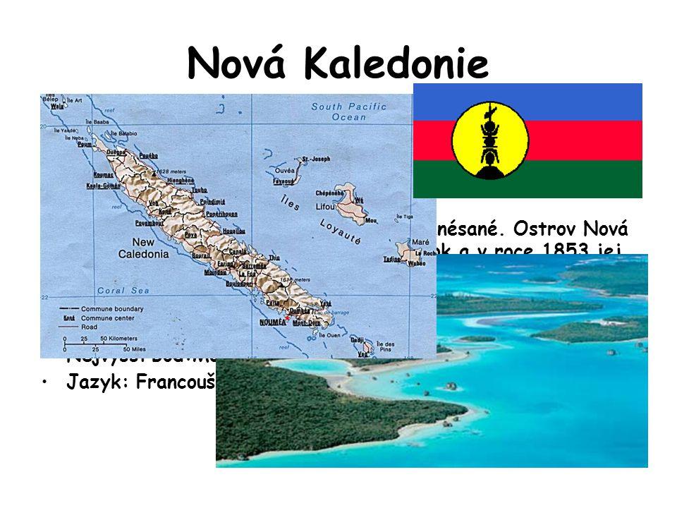 Nová Kaledonie Podnebí je tropické s ročním úhrnem srážek cca 2000 mm v nižších polohách, na horách 2000 až 4000 mm. Hojnější srážky jsou od prosince
