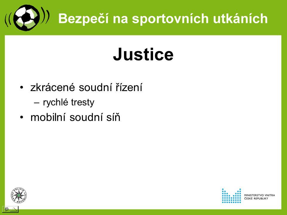 Justice zkrácené soudní řízení –rychlé tresty mobilní soudní síň