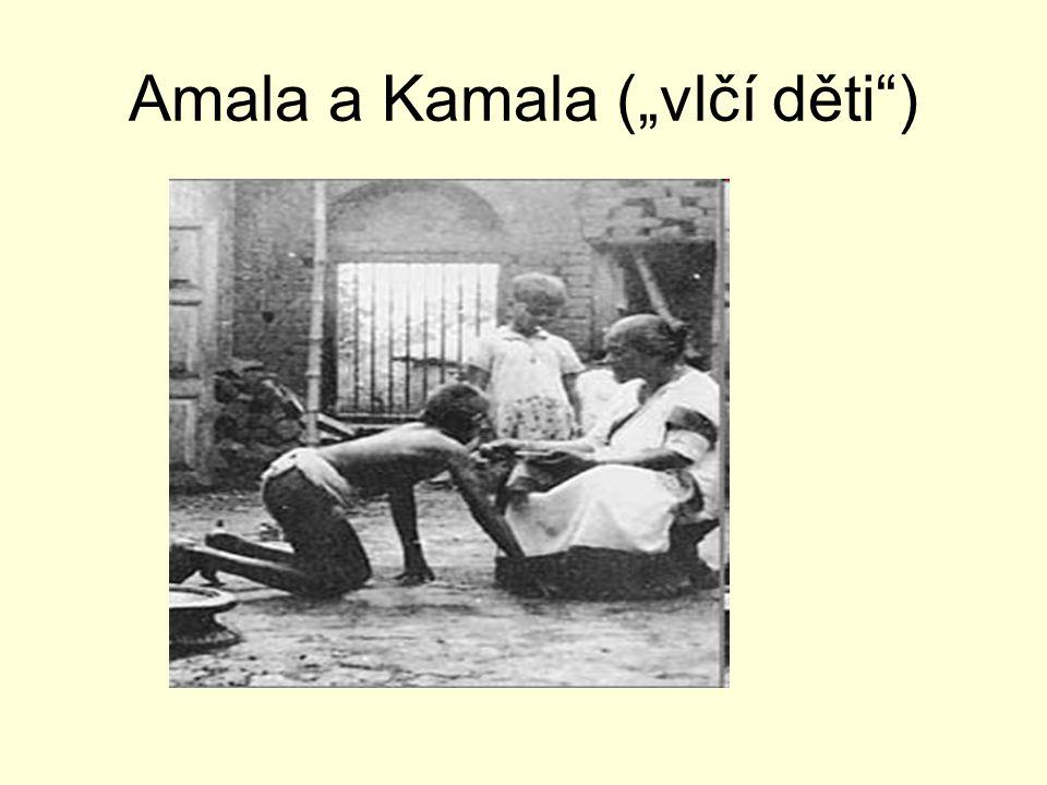 """Amala a Kamala (""""vlčí děti"""")"""