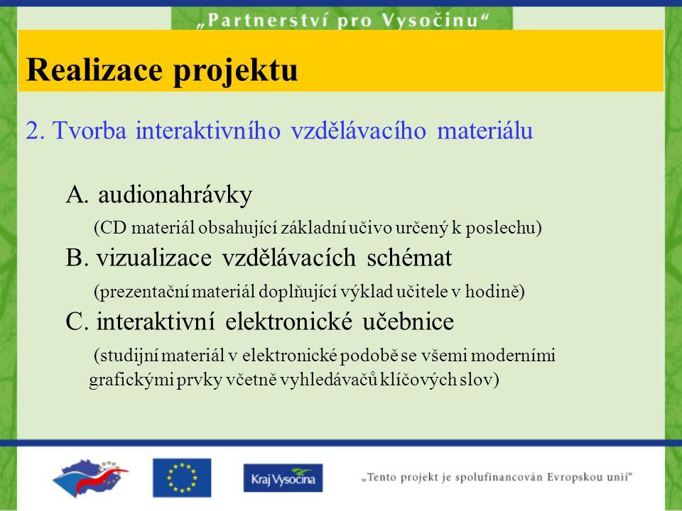 2. Tvorba interaktivního vzdělávacího materiálu A.