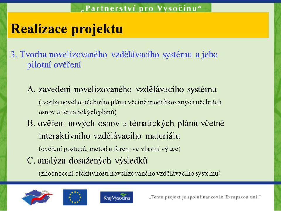 3. Tvorba novelizovaného vzdělávacího systému a jeho pilotní ověření A.