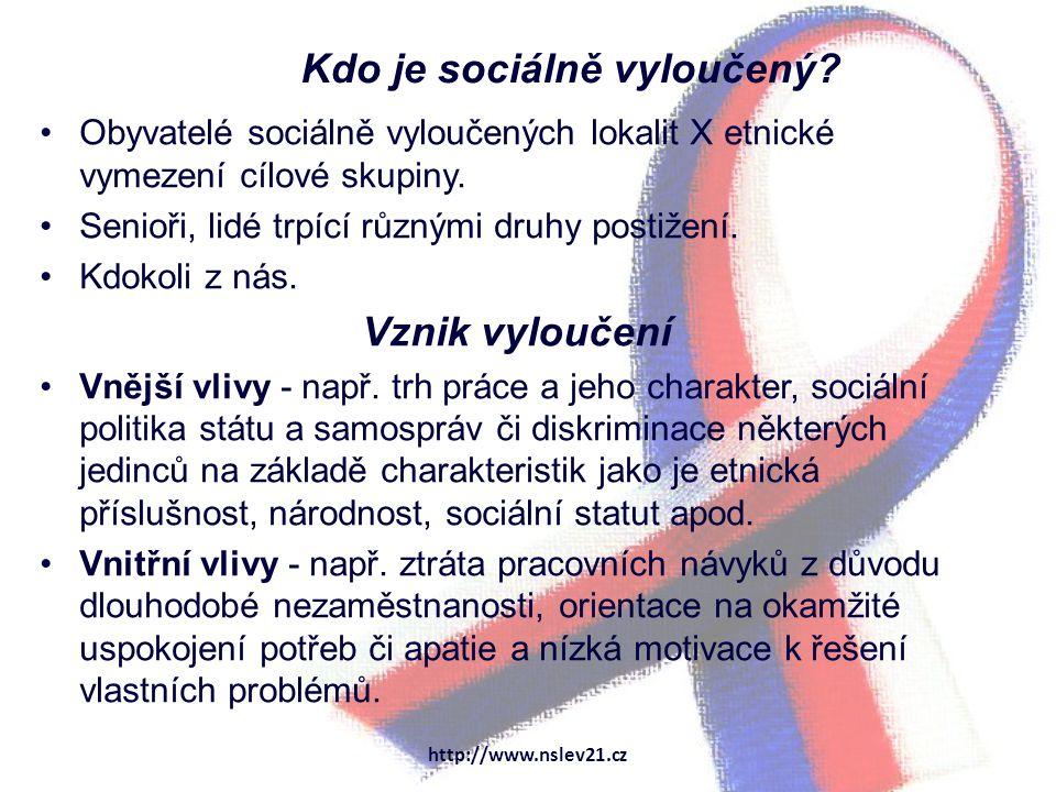 Kdo je sociálně vyloučený.