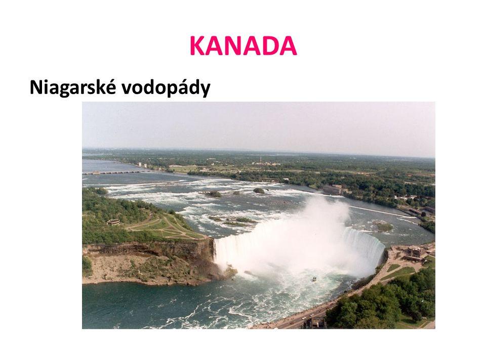 KANADA Niagarské vodopády
