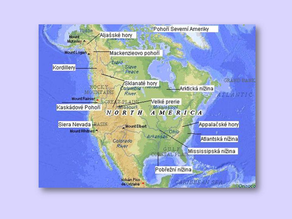 Vodstvo největší část odvodňována do Atlantského oceánu největší řekou Mississippi (4.
