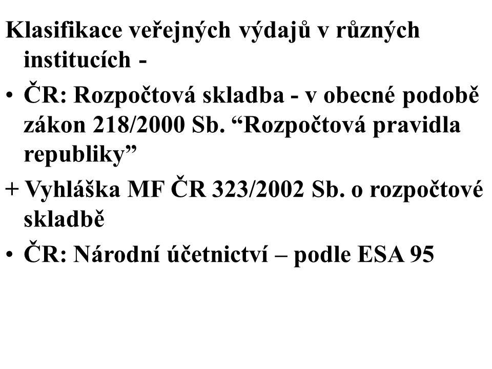 Efektivnost veřejných výdajů hospodárnost, efficiency Pareto-efektivnost (řešeno v tématu 1 pro soukromé statky a v tématu 2 pro veřejné statky)...