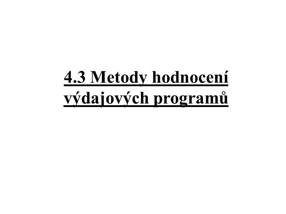 4.3 Metody hodnocení výdajových programů