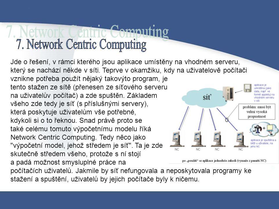 Jde o řešení, v rámci kterého jsou aplikace umístěny na vhodném serveru, který se nachází někde v síti. Teprve v okamžiku, kdy na uživatelově počítači
