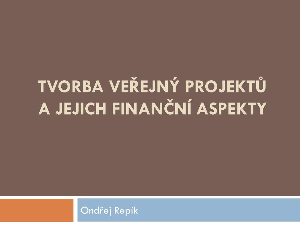 Finanční aspekty řízení projektů  pro strukturální politiku stanoveny v každém programovém období určité cíle  zdroje: strukturální fondy (ERDF, ESF) a Fond soudržnosti – stanovují  Operační programy - nástroje pro přerozdělení financí z fondů EU  financování projektů ex-post vs.