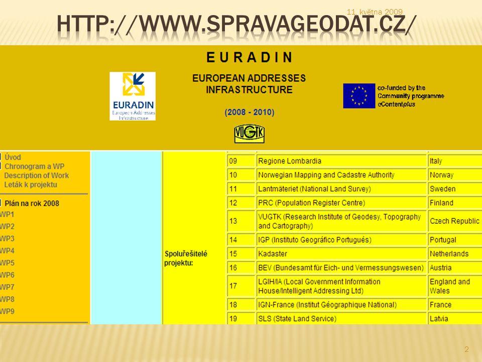  Partnerství EURADIN  seskupuje 30 partnerů z 16 různých Evropských zemí, což je 59% členských států EU přímo zastoupených v konsorciu.
