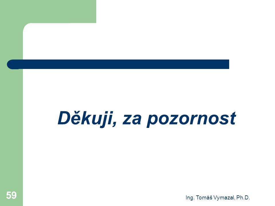 Ing. Tomáš Vymazal, Ph.D. 59 Děkuji, za pozornost