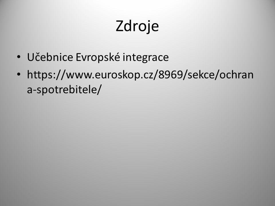 Zdroje Učebnice Evropské integrace https://www.euroskop.cz/8969/sekce/ochran a-spotrebitele/