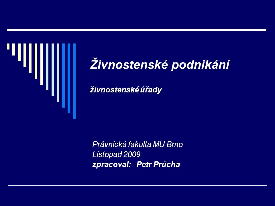 Živnostenské úřady zákon č.