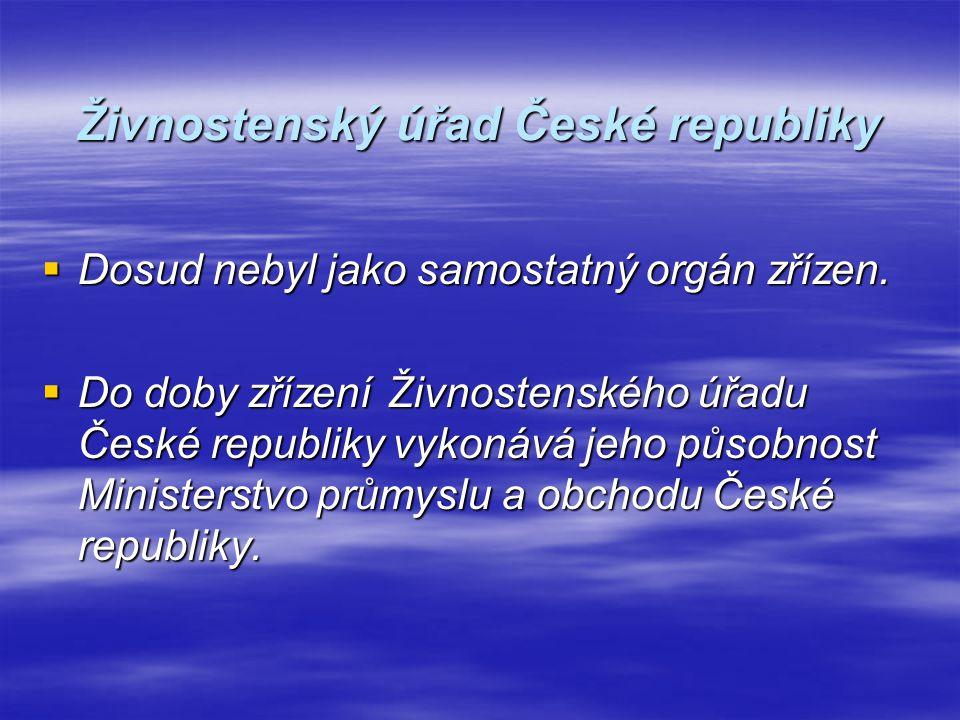 Působnost živnostenského úřadu České republiky  zpracovává koncepce v oblasti živnostenského podnikání,  vykonává řídící, koordinační, kontrolní a metodickou činnost vůči krajským živnostenským úřadům; může nařídit živnostenským úřadům provedení živnostenské kontroly,  rozhoduje o odvolání proti rozhodnutím krajských živnostenských úřadů,  je správcem živnostenského rejstříku,  spolupracuje na úseku živnostenského podnikání s příslušnými správními úřady, v jejichž působnosti jsou odvětví, ve kterých se provozuje živnostenské podnikání, s hospodářskými komorami, podnikatelskými svazy a sdruženími,  je oprávněn vyžadovat od ústředních správních úřadů potřebná stanoviska a vyjádření