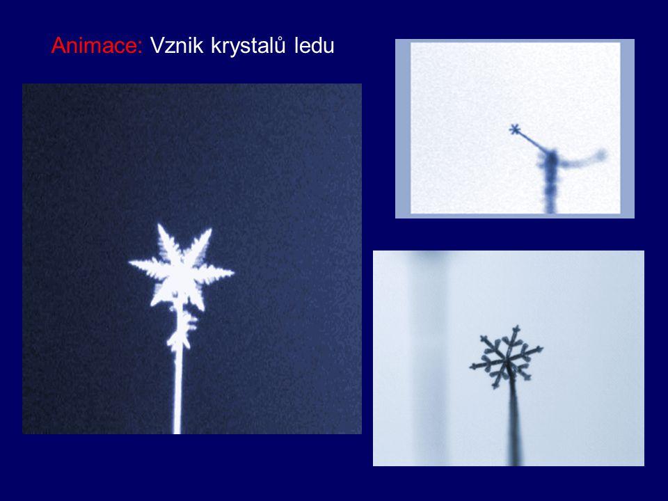 Obr: Struktura ledu