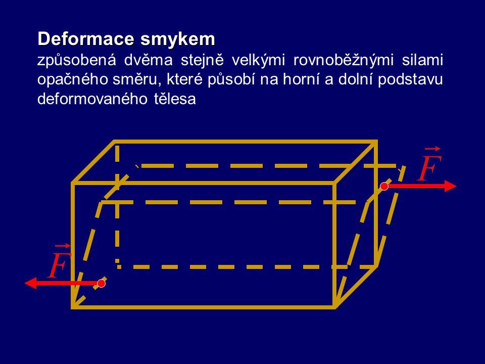 Deformace ohybem způsobená silou, která působí kolmo k ose souměrnosti tělesa upevněného alespoň na jednom konci