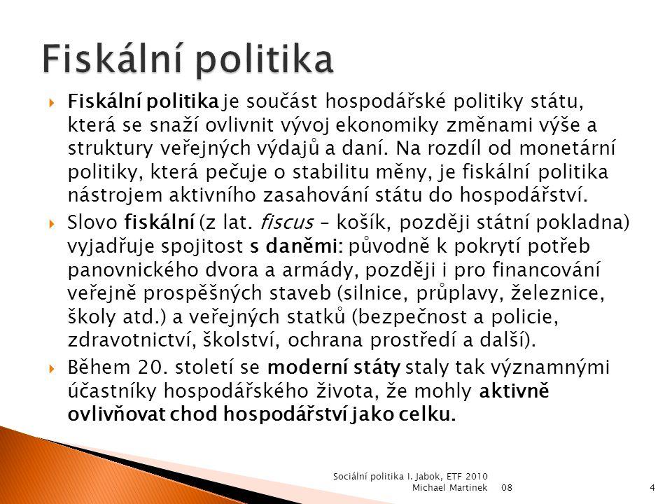 0824 Sociální politika I. Jabok, ETF 2010 Michael Martinek