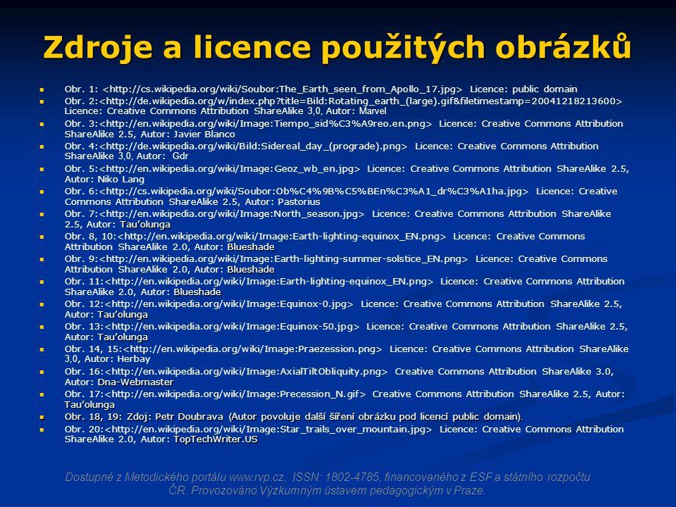Zdroje a licence použitých obrázků Obr.1: Licence: public domain Obr.