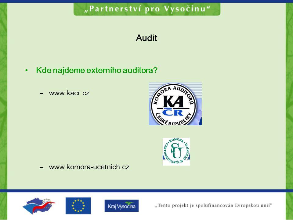 Audit Proč potřebujeme externího auditora .