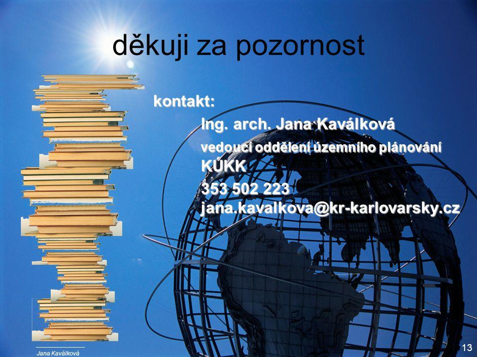 Jana Kaválková 13 děkuji za pozornost kontakt: Ing.