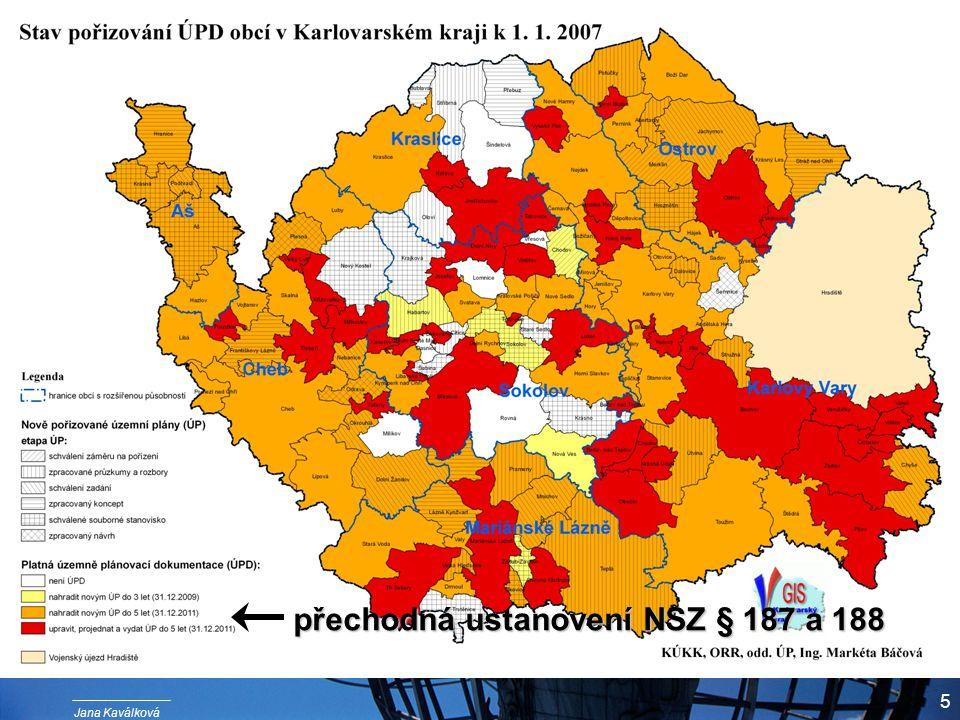 Jana Kaválková 5 přechodná ustanovení NSZ § 187 a 188