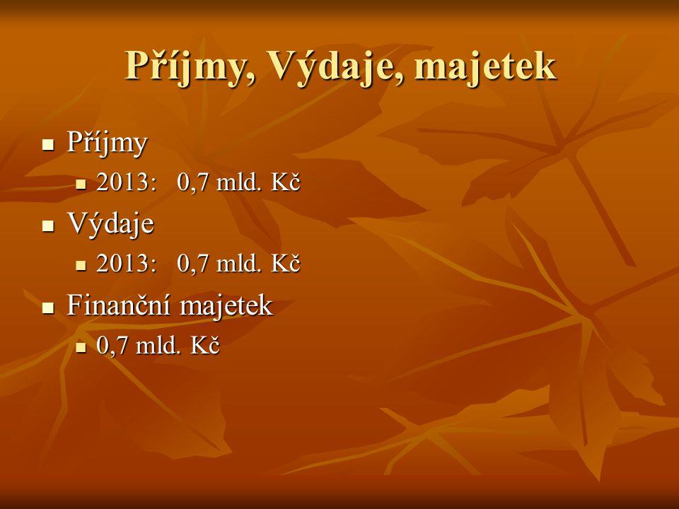 Příjmy, Výdaje, majetek Příjmy Příjmy 2013:0,7 mld.