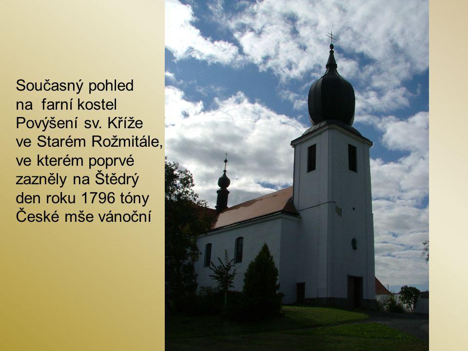 Pamětní deska na vnější stěně kostela Povýšení sv.