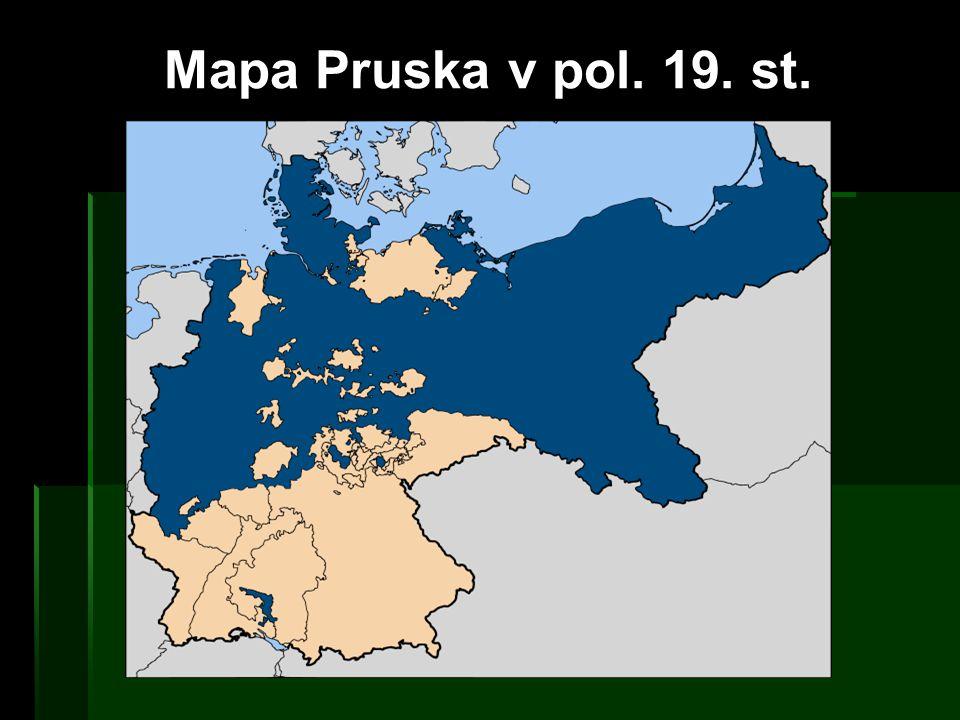 Mapa Pruska v pol. 19. st.