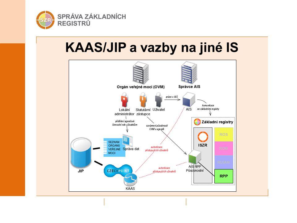 KAAS/JIP a vazby na jiné IS