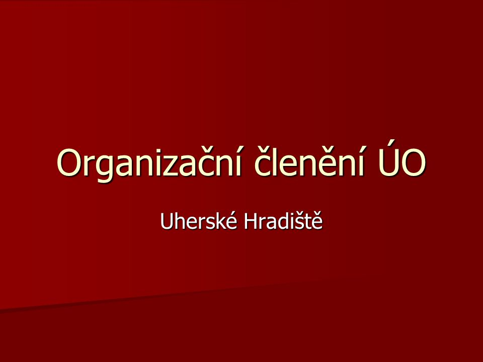 Organizační členění ÚO Uherské Hradiště