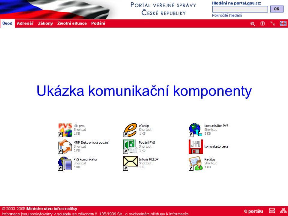 Ukázka komunikační komponenty