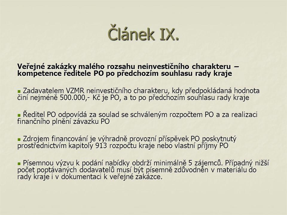 Článek IX.