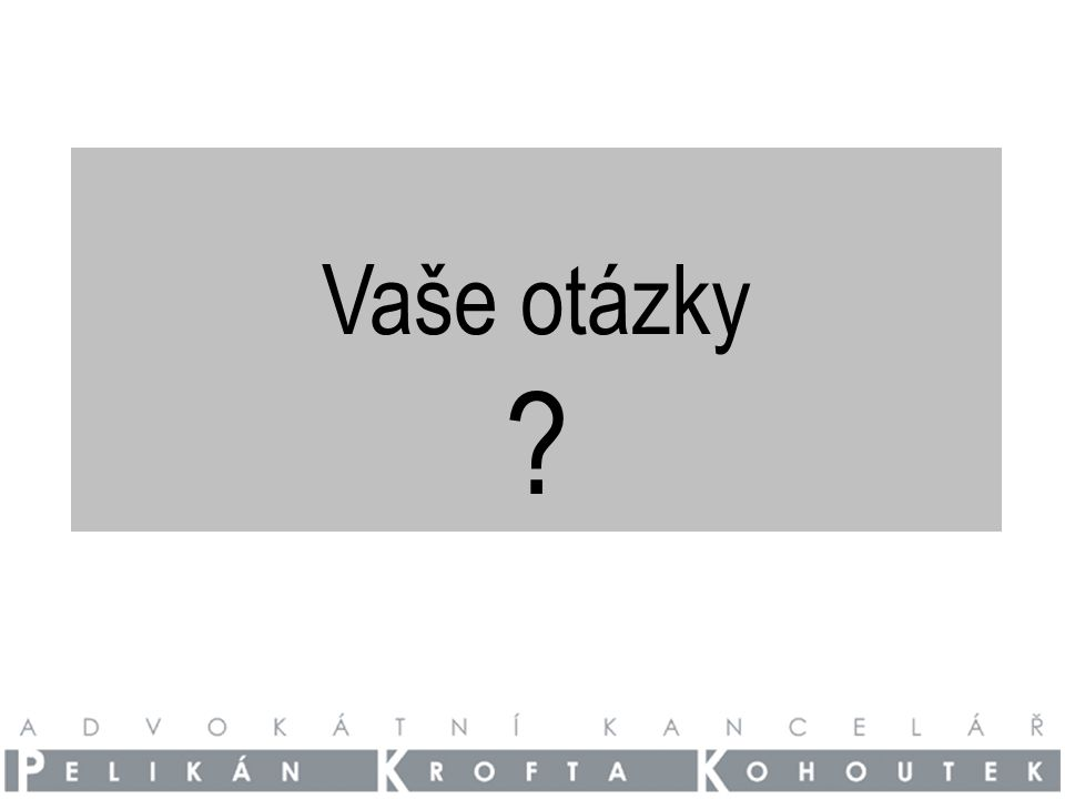 Vaše otázky