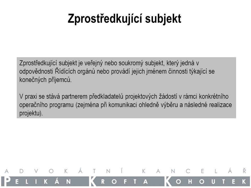 Jaká je role zprostředkujícího subjektu (ŘO) ve vztahu k veřejnému zakázkám.
