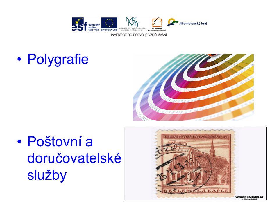 Polygrafie Poštovní a doručovatelské služby