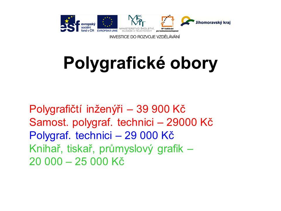 Polygrafické obory Polygrafičtí inženýři – 39 900 Kč Samost.