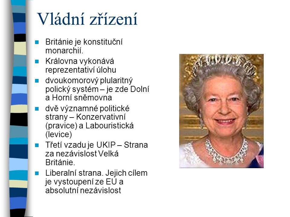 Vládní zřízení Británie je konstituční monarchií.