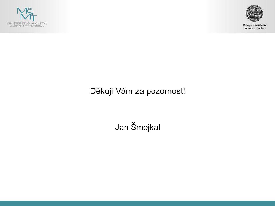 Děkuji Vám za pozornost! Jan Šmejkal