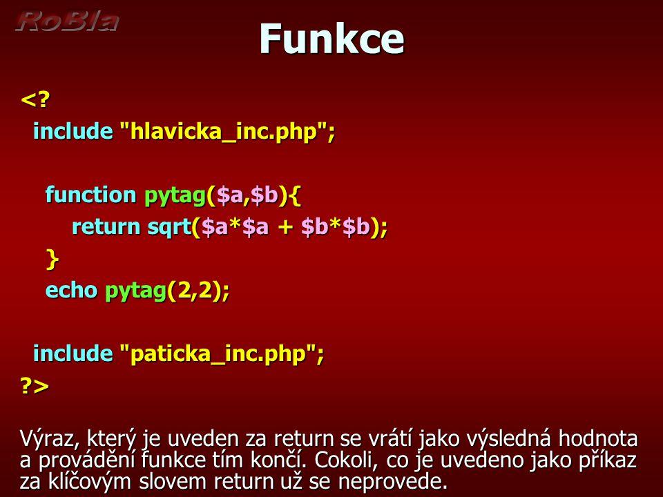 Funkce <.