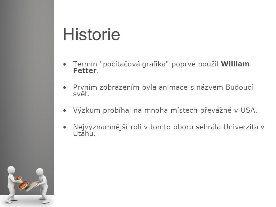 Historie Termín počítačová grafika poprvé použil William Fetter.