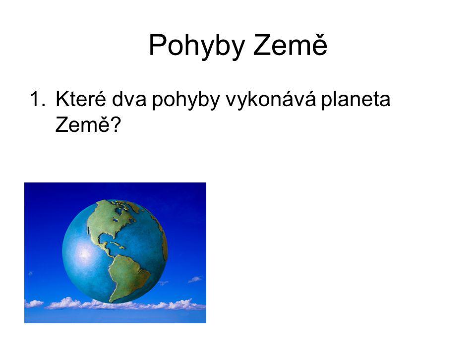 Pohyby Země 1.Které dva pohyby vykonává planeta Země